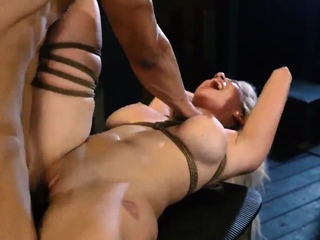 Real bondage anal Big-breasted ash-blonde sweetheart