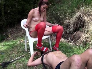 femdom slaps and spits and ashtray domination