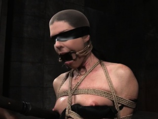 Bound milf sub gagged and toyed by maledom