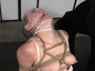 Bound bdsm sub dominated with vibrator