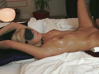 Girl tied has to swallow cum