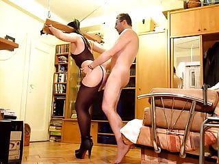 Yoke pillory & dental gag fun for whip dancing slut- TRAILER