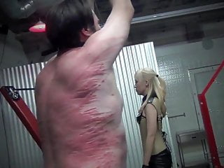 Cruel whipping and punishment by sadistic asian mistress