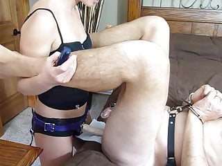 Cum on her strapon and lick it off