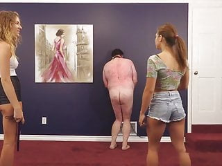 Cruel whipping by two young mistresses
