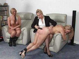 Girls spanked by master and mistress