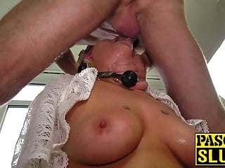 Gagged slut submits to master Pascals relentless pounding