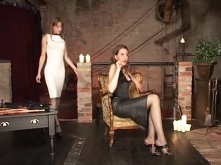 Two german lesbain women enhoy some spanking flogging and impact play