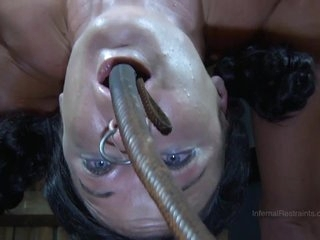 Strappado, claustrophobia and orgasm predicament for captive