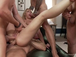 For the Love of God  Dahlia Sky in her First Gangbang EVER